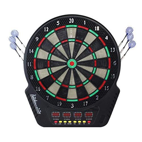 DPPAN Elektronische Dartscheibe Dartboard 4 LCD-Anzeige, Spielen 21 146 Varianten umfassen 6 Dartpfeile Soft-Tipps 24 16 Spieler, Batterie/Stromversorgung,Multicolor