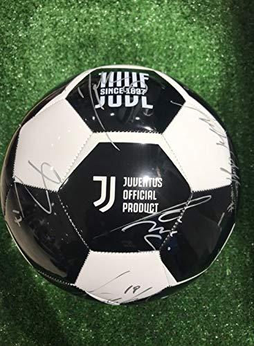MAESTRI DEL Fútbol Balón Europa Champions League Blanco Autógrafo F.C. Juventus 2019/2020 - Firma de jugadores Juve
