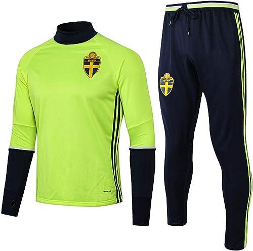 XunZhiYuan Football Wear Club Training Wear Maillot à Manches Longues et Pantalons pour Hommes - Apparence Uniforme