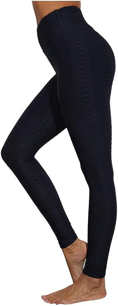 Bravetoshop Women's High Waist Yoga Pants Tummy Control Slim Seamless Booty Leggings Workout Running Butt Lift Tights