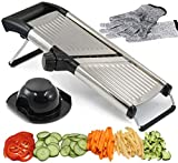Adjustable Mandoline Slicer by Chef's INSPIRATIONS. Best For Slicing Food, Fruit and Vegetables. Professional Grade Julienne Slicer. With Cut Proof Gloves and Cleaning Brush. Stainless Steel