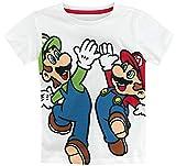 Super Mario Mario   Luigi T-Shirt weiß 98 104
