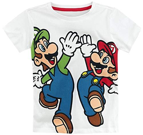 Difuzed B.V. Super Mario Mario & Luigi Männer T-Shirt weiß 170/176
