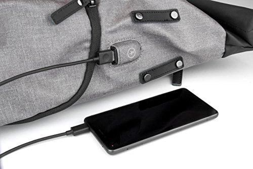 ONWARD Hamburg Roll Top Rucksack - Wasserdicht - Herren & Damen Daypack 30 l - Laptop Rucksack 15,6 Zoll mit USB-Anschluss - für Uni Business Schule Freizeit Reisen Urlaub Handgepäck Notebook