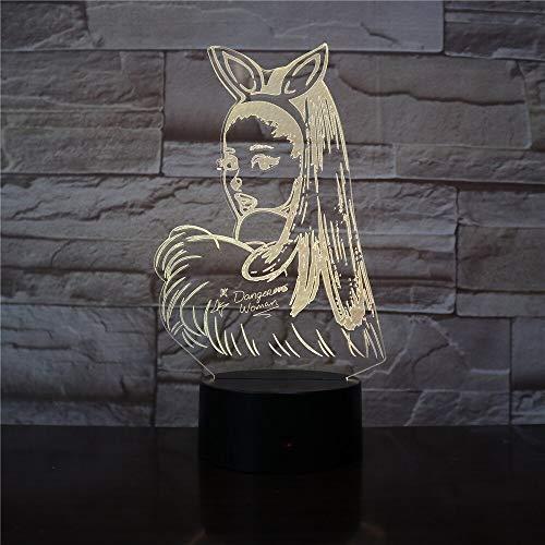 Nur 1 Ariana Grande Poster Promi Sängerin Cat Girl Fans Geschenk für Schlafzimmer Dekorative 3D Led Nachtlicht Tisch Nachtlicht