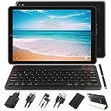 GOODTEL Tablet 10 Pollici Android 10.0 Pro Tablets Android con Processore 8-Core 1.6GHz 4GB RAM+64GB ROM / Doppia Fotocamera / WiFi / Bluetooth / GPS / MicroSD 4-128GB, con Tastiera Bluetooth