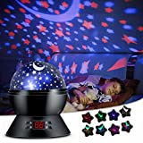 ANTEQI Star Projector Night Light for Kids Bedroom Decor with Timer Setting, 8 Lighting Modes for Boys and Girls Gift - Black