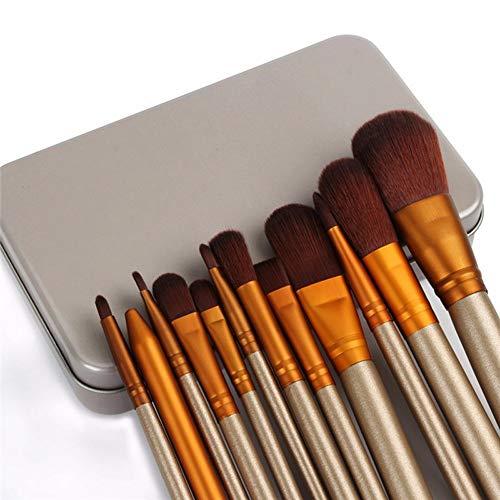 Nouveau Pro 12 pcs Maquillage Pinceaux Ombre À Paupières Fondation Sourcils Lèvre Eyeliner Sourcils Pinceaux Maquiagem Synthétique Cheveux Brosse à maquillage XXYHYQ