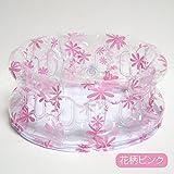 折りたたみ 携帯用 洗面器 フラワー柄 ピンク 日本製