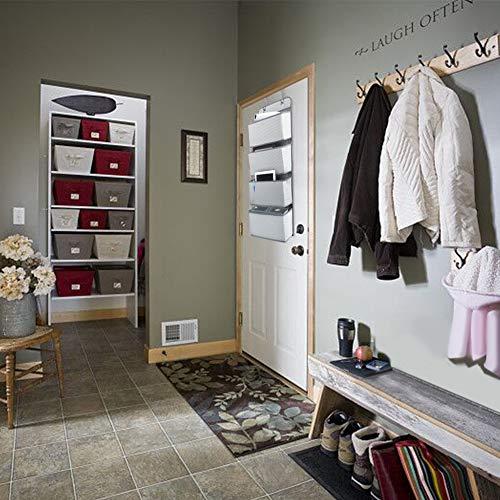 ウォールポケットCoquimbo壁掛け収納式ドアハンガーポケット小物収納ポケット4段壁掛けドア掛け雑誌小説箱ティッシュなどの収納に最適