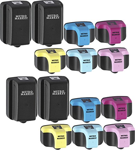 Metro Market 14 Pièces pour HP 363 XL Cartouches d'encre Haute Capacité Compatible pour HP Photosmart 3210xi 3310 7160 7360 8250 C5180 C6100 C6180 C6200 C6280 C7180 C7200 C7250 C7280 C8180 D7260 D74