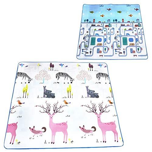 Voor Baby Playmat Eva Foam Crawling Pad speelmat For Kids Kinderen Carpet Gym Puzzels Spelletjes ontwikkelen van Mats Toys Deken Deken Floor baby's (Color : Deer Car, Size : 200CM*180CM)
