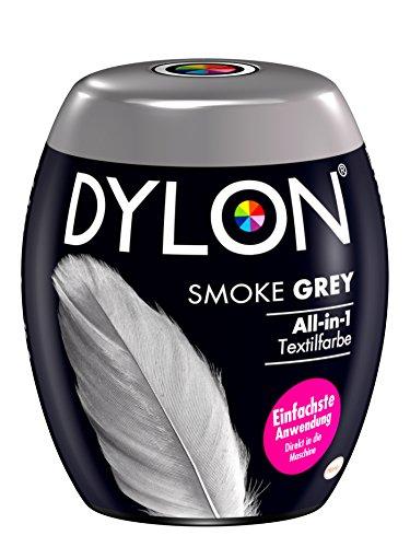 DYLON Smoke Grey All-in-1 Textilfarbe (350 g), Stofffarbe zum Einfärben und Auffrischen in der Waschmaschine, für frische und intensive Farben
