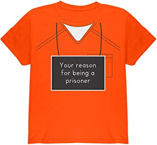 Custom Text Name and Number Prisoner Inmate Costume Youth T Shirt