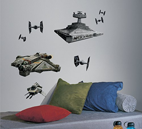 RoomMates Star Wars Rebel & Imperial Ships Peel and Stick Giant Wall Decals, ,