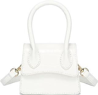 محفظة صغيرة للنساء من كاTMICOO، حقيبة صغيرة عصرية وحقيبة يد صغيرة بتصميم التمساح مع غطاء قلاب منحني