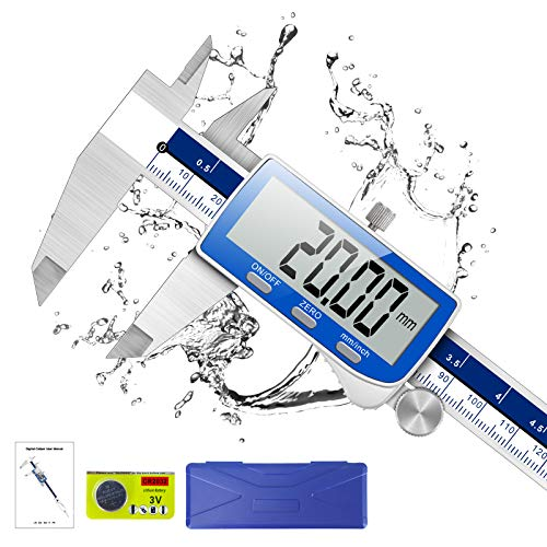 Pie de Rey, Qfun Calibre Digital Profesional 150mm de Acero Inoxidable con...