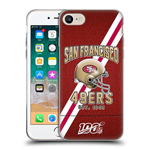 Head Case Designs Offizielle NFL Football Streifen 100ste 2019/20 San Francisco 49ers Soft Gel Huelle kompatibel mit Apple iPhone 7 / iPhone 8 / iPhone SE 2020