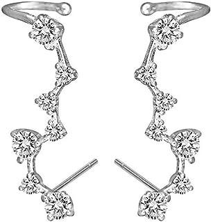 Royal Amoyy 925 Sterling Silver Ear Crawler | Cuff Earrings - Ear Climber Earrings for Women and Girls