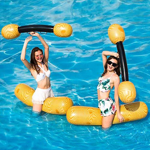 2 PC stellten aufblasbare sich hin- und herbewegende Reihen-Spielwaren, erwachsene Kinderpool-Partei-Wassersport-Spiel-Klotz-Flöße ein, um Spielwaren zu schwimmen