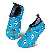 IceUnicorn Kinder Strandschuhe Jungen Mädchen Schwimmschuhe Aqua Schuhe Baby Badeschuhe für Beach Pool Surfen Yoga Unisex(Hai, 24/25EU)