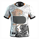 RENDONG Maillot Rugby Western Sydney Tigers Maillot Édition Collector Unisexe,Blanc,2XL