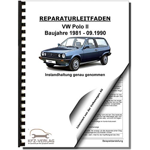 VW Polo 2 86C 1981-1990 Instandhaltung Inspektion Wartung Reparaturanleitung