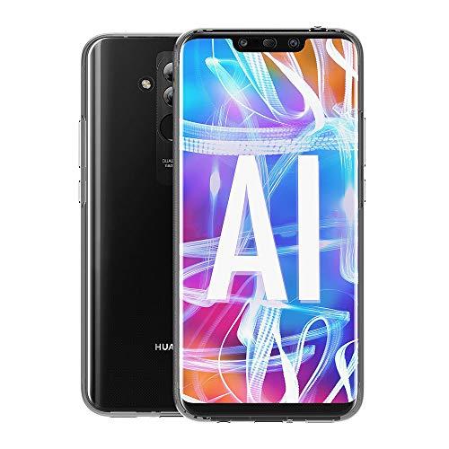 AICEK Compatible Huawei Mate 20 Lite Hülle, 360°Full Body Transparent Silikon Schutzhülle für Huawei Mate 20 Lite Case Durchsichtige TPU Bumper Huawei Mate 20 Lite Handyhülle (6,3 Zoll) - 3