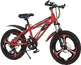 bicicleta correpasillo niño Bicicleta Para Niños 18/20 Pulgadas Boys And Girls Cycling Adecuado Para Niños De 7 A 14 Años De Edad Ciclismo | Ajuste De 7 Velocidades De Altura De Asiento Ajustable, 3 C