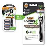 BIC Flex 4 Sensitive Hybrid Men's 4-Blade Disposable Razor, 1 Count