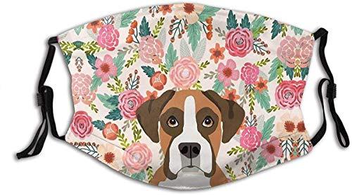 Ecklili Schutzhaube für Hunde/Hunde, mit Blumenmuster, Staubschutz-Mundschutz für wiederverwendbare Abdeckung