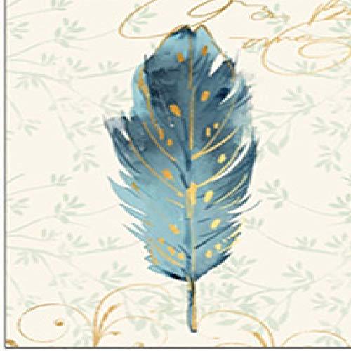 QVQIU Moderne abstrakte Bunte Vögel Feder Leinwand Poster Kunst Gemälde AquarellAffiche Home Decor für Wohnzimmer No Frame 57X93CM