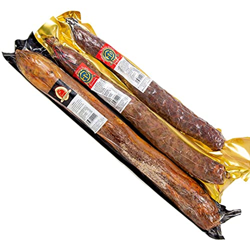 Medias Piezas de: Chorizo Ibérico de Bellota + Salchichón Ibérico de Bellota +Lomo Embuchado Extra. 29,40€ Entrega 24-72horas. 1,5kg aprox en total. Salamanca. La Teresina