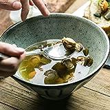 xxw Tazón de cerámica Vintage En Relieve Patrón Vertical Vajilla para el hogar Tazón de arroz Tazón de Ensalada Tazón de Sopa Tazón de Ramen Tazón Grande de Verduras