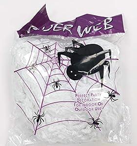 100g telarañas + 30 arañas decoración Halloween fiesta escena jardín Bar embrujado (100g telarañas, 30 arañas)