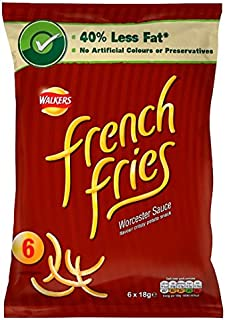 Walkers French Fries Worcester Sauce - 18g x 6 pack