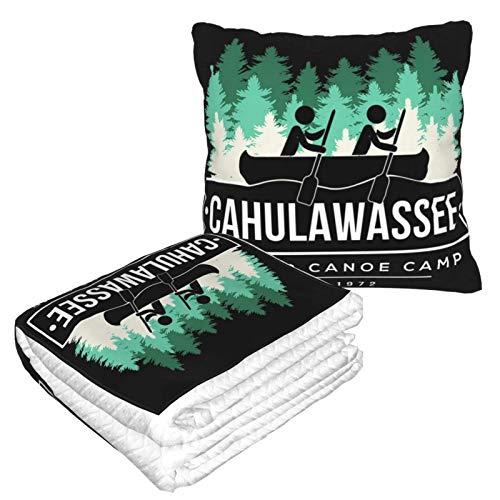 Cahulawassee Manta de viaje y almohada 2 en 1, manta de avión, almohada de cuello de viaje y manta