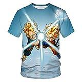 Camiseta de Manga Corta con Estampado 3D de Dragon Ball-D_XXS
