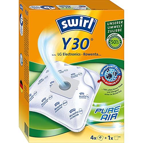 Swirl Y 30 MicroPor Plus Staubsaugerbeutel für LG Electronics, Rowenta Staubsauger, Anti-Allergen-Filter, 4 Stück inkl. Filter