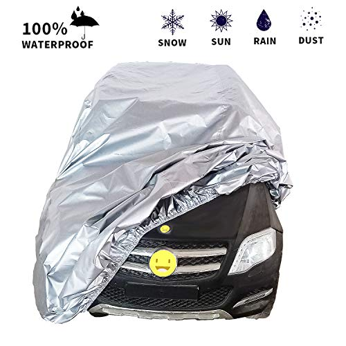 ONFUTAT Large Kids Ride-On Toy Car Cover, Outdoor Wrapper Resistant Protection for Electric Battery Powered Children Wheels Toy Vehicles-Universal Fit, Water Resistant, UV Rain Snow Protection(Silver)
