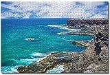 MX-XXUOUO Rompecabezas - España Cliff Fuerteventura - 1000 Piezas, De Madera,Juguetes y Juegos Hechos a Mano