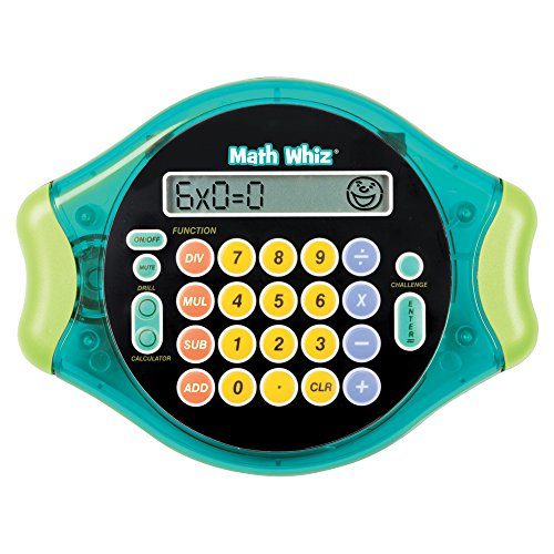 Educational Insights Math Whiz - Electronic Math Game for Kids Ages 6+, Addition, Subtraction, Multiplication & Division, Classroom Supply