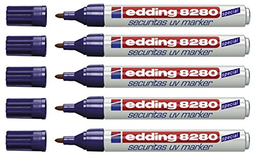 edding 8280 UV-Marker Rundspitze (5 Stück)