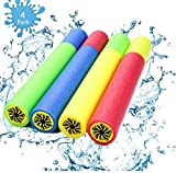 Water Guns Toys for Kids, 4Pack Foam Water Blaster Shooter Summer Fun Outdoor Swimming Pool Games Toys for Boys Girls Adults