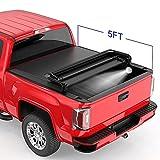 MOSTPLUS Tri-Fold Soft Truck Bed Tonneau...