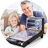 JWCN Espacio súper Pinball Juego niños s Juguete 42x24 5x27cm 4-8 años de Edad Padre-niño Rompecabezas Pinball Machine Electronic Pinball Machine Uptodate