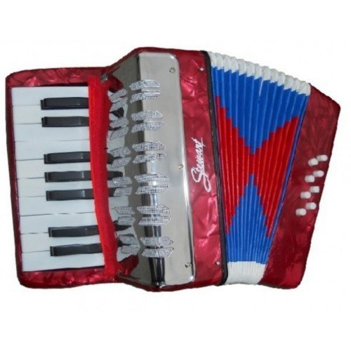 ACORDEON CROMATICO - STEWART 17 Teclas en el Cantante y 8 Botones en...
