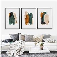 """創造性キャンバス絵画、幾何学的なミニマリストの壁アートポスター、リビングルームの家の装飾15.7"""" X 19.6""""(40x50cm)フレームなし3個"""