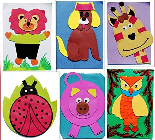 Amazon Com Handmade Birthday Party Invitations Cards With Designer Cartoon Characters Pack Of 6 Handmade