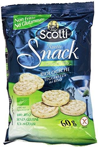 Riso Scotti Risette Snack Biologiche - 60 gr, Senza glutine
